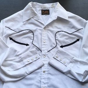 Plains Western Wear shirt with snap buttons